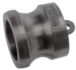 złącze kamlok zaślepka złącza żeńskiego typ DP (kamlock, camlock, camlok) wykonane ze stali nierdzewnej